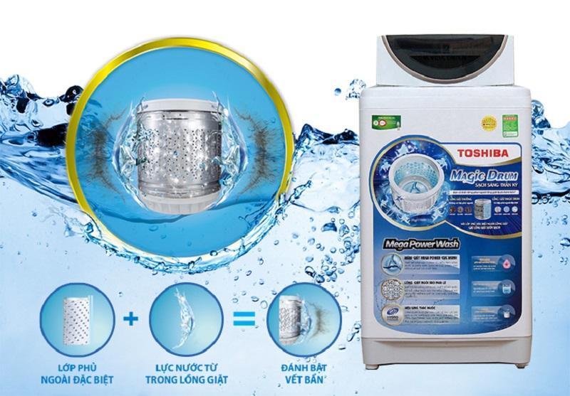 Công nghệ lồng giặt Magic Drum thần kỳ, đem đến cho máy giặt Toshiba AW-MF920LV WK khả năng giữ lồng giặt luôn được sạch sẽ
