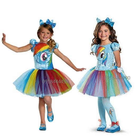 Giá bán Set 3 chi tiết Váy bờm cánh Pony xanh - Pony Cầu vồng Rainbow Dash