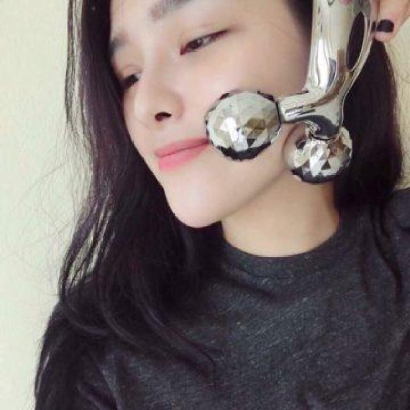Cây Lăn Massage Mặt 3D Nhật Bản - mát xa đẹp da, tạo cằm V-line, thon gọn đùi, giảm mỡ bụng