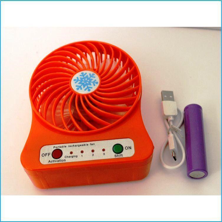 Hình ảnh Quạt sạc tích điện mini (màu ngẫu nhiên) - Quạt USB tặng kèm 1thỏi pin + cáp sạc (sunzin quat usb)