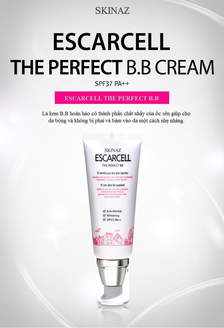 Kem nền che khuyết điểm Escarcell The perfect BB Cream - SPF37+, PA++ Skinaz -Hàn Quốc