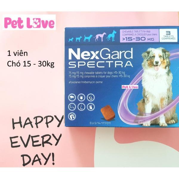 1 viên NexGard Spectra trị giun, ghẻ, viêm da, ve rận (chó 15 - 30kg)