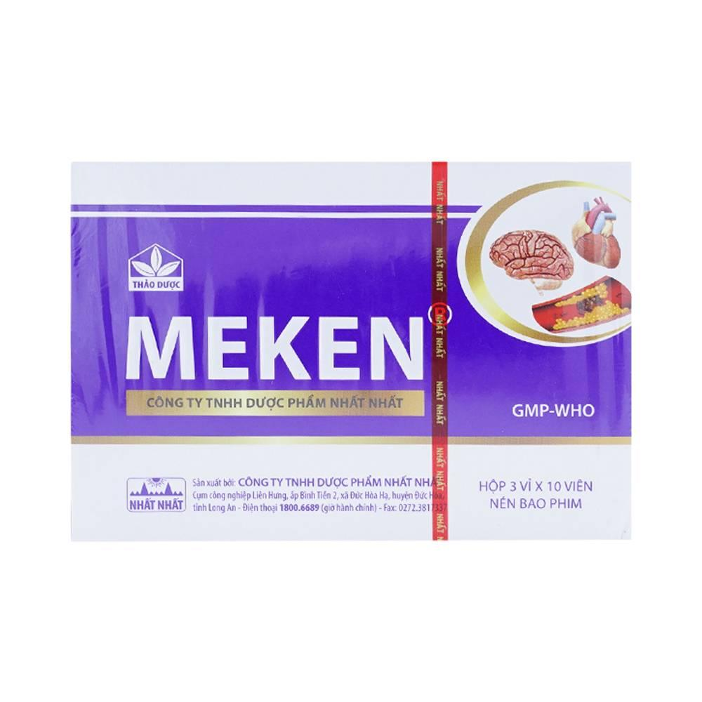 Hỗ trợ điều trị tai biến mạch máu não Meken( hộp 30 viên)