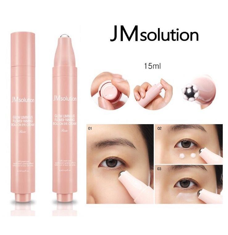 Lăn Dưỡng Mắt Chuyên Sâu Jm Solution Roll On Eye Cream 15ml # Glow Luminous Flower nhập khẩu