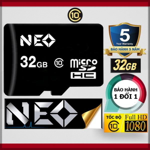 Thẻ nhớ 32GB NEO MicroSDHC Class 10 - Bảo hành 5 năm 1đổi1