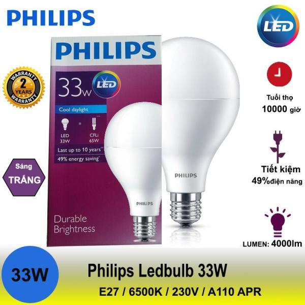 Bóng đèn Led Bulb Philips hiệu suất cao 33W 4000Lm 6500K A110 ( ánh sáng trắng)
