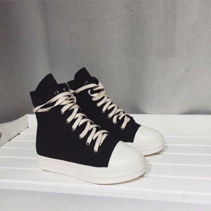 giày thể thao cao cổ nữ buộc dây,giày RO ,giày nữ cao cổ buộc dây CPD005 giầy đen,giày boot chiến binh,giày sneaker,giày vải nữ cao cổ,giầy nữ cao cấp[Full Box]