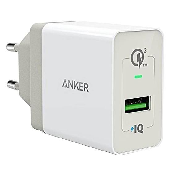 Sạc ANKER PowerPort+ 1 cổng 18w Quick Charge 3.0 có PowerIQ (Đen)