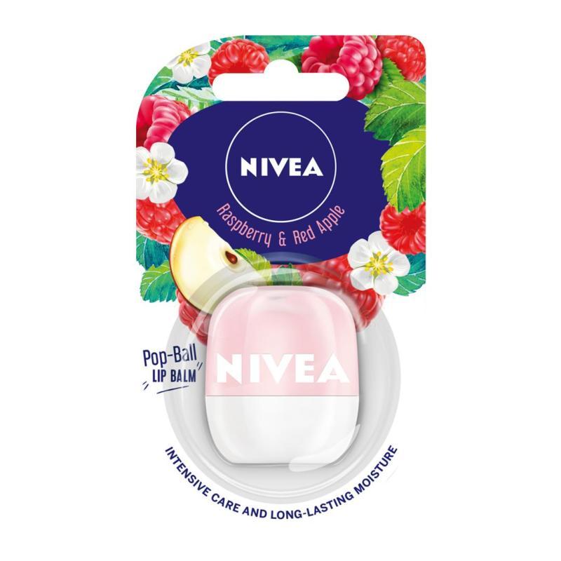 Son dưỡng ẩm NIVEA LIP POP-BALL RASPBERRY& RED APPLE 7G nhập khẩu