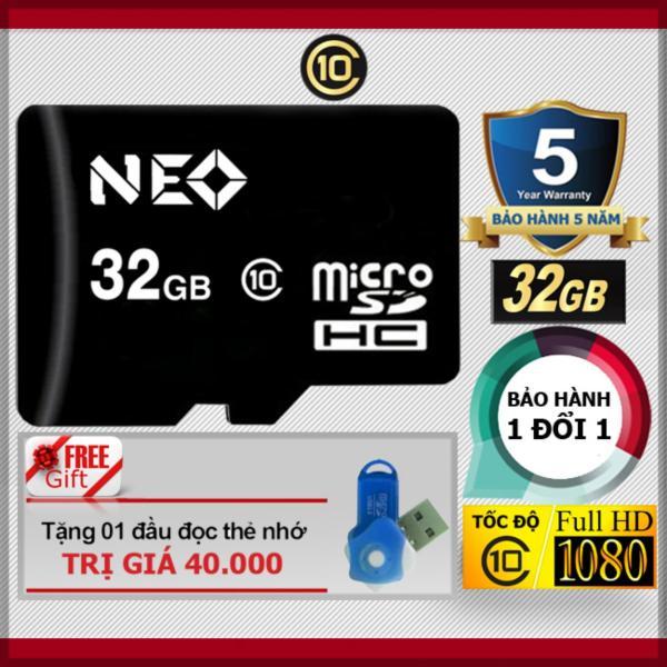 Thẻ nhớ 32GB NEO micro SDHC - Tặng đầu đọc micro PT
