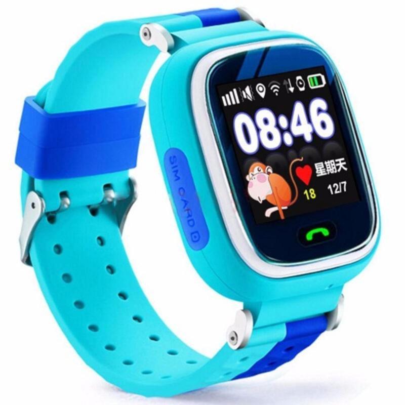 Nơi bán Đồng hồ định vị trẻ em thông minh GPS Tracker Y5 mẫu mới tích hợp thêm camera (Xanh dương)