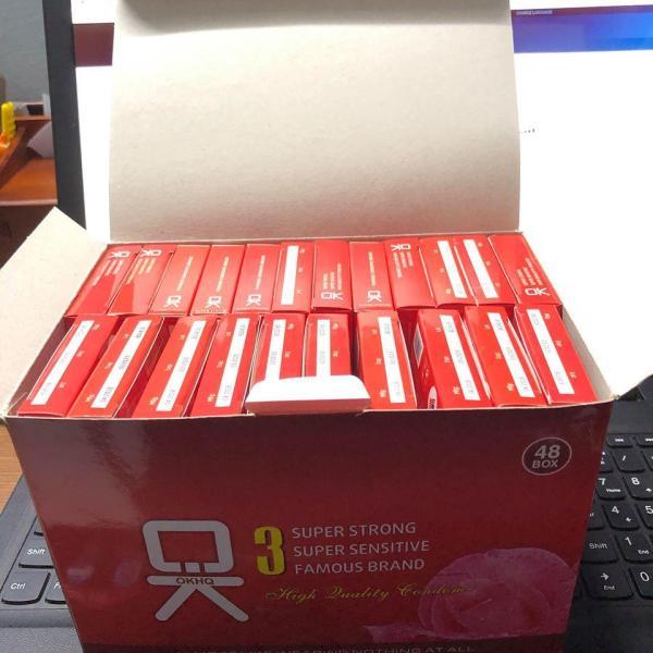 Bộ 20 Hộp Bao Cao Su OKHQ Không Mùi (Hộp 3 chiếc)