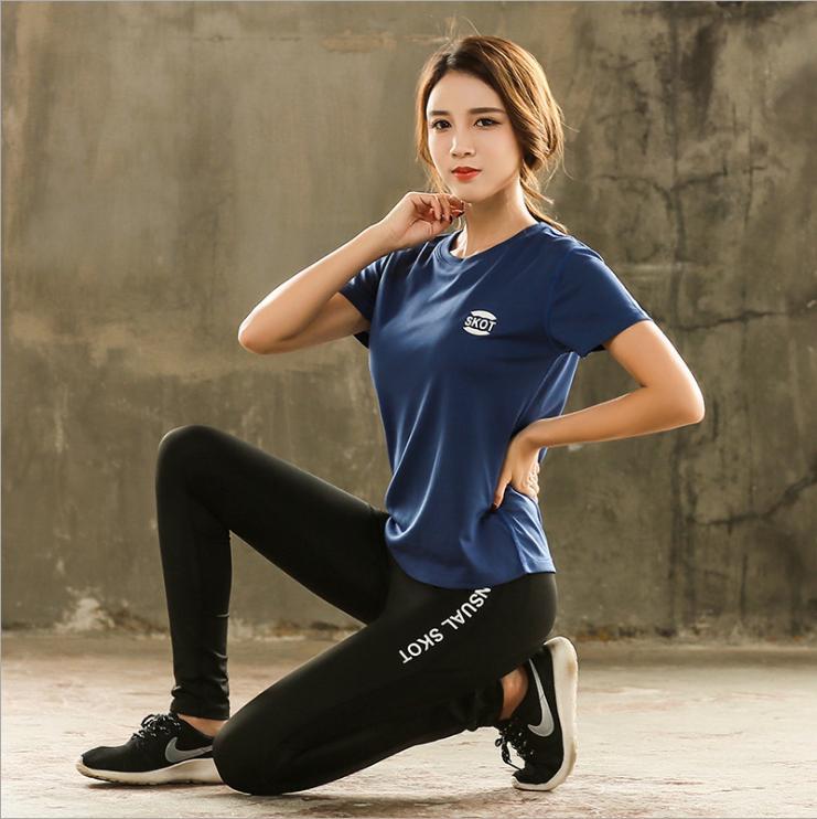 Hình ảnh Bộ quần áo thể thao nữ Skot (Hàng nhập khẩu) đồ tập gym, yoga