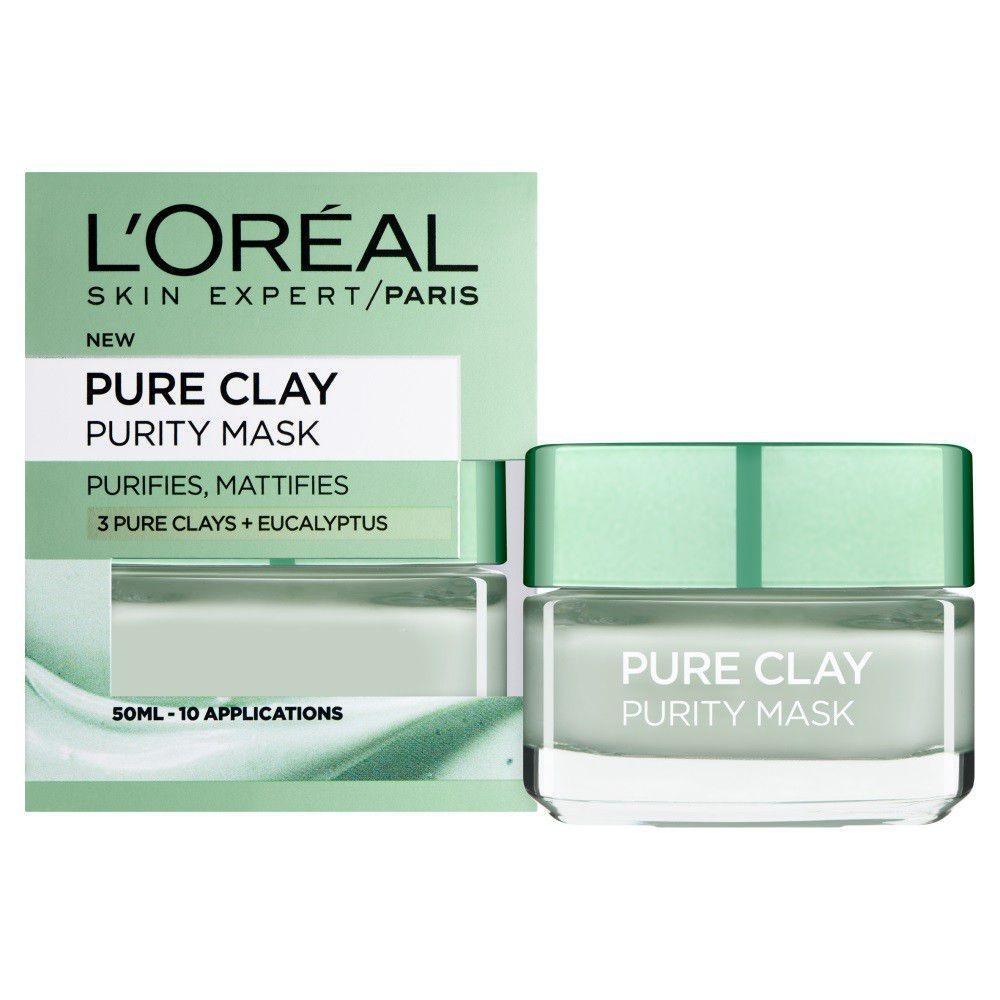 Mặt nạ LOreal Pure Clay Purity Mask  (lá bạch đàn Pháp ) 50 ml