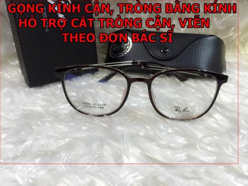 Giá bán Gọng kính cận ray bon mắt mèo Tròng bằng kính ( Tặng tròng kính cận )