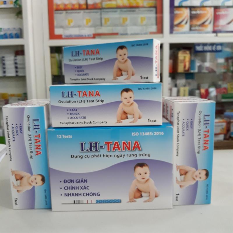 Bộ 20 que thử rụng trứng LH- Tana tặng 2 que thử thai One Stick