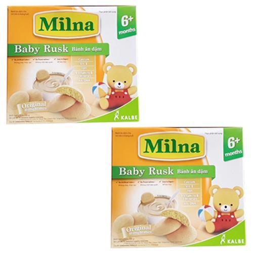 Bộ 2 Hộp Bánh Ăn Dặm Milna Hương Tự Nhiên 150G(Cho Bé Trên 6 Tháng)