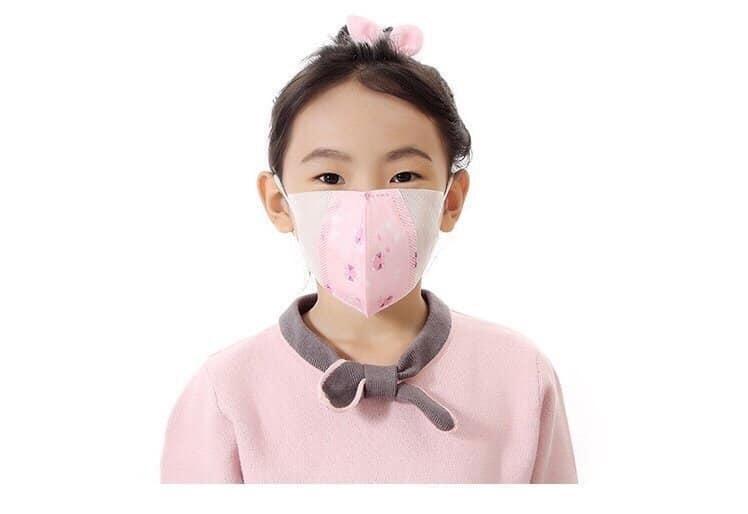 Khẩu trang trẻ em kháng khuẩn ( set 5 cái ) Hồng