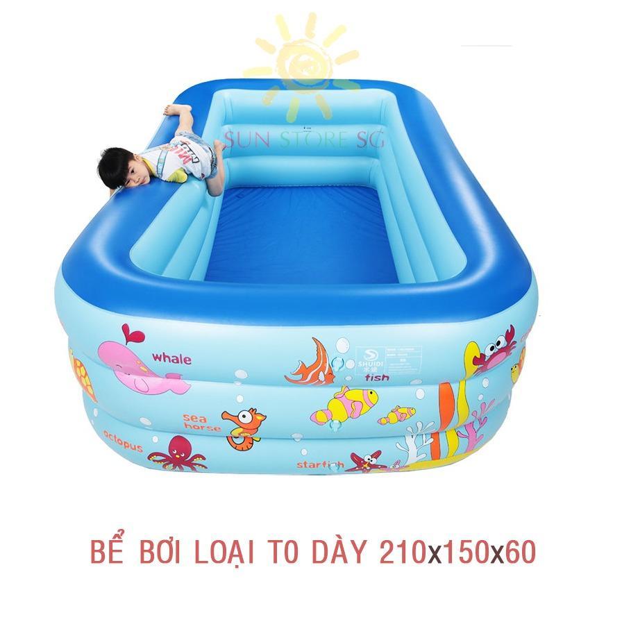 Mua Hồ Bơi Trẻ Em Kham Pha Ngay Bể Bơi Phao 3 Tầng Khổ Lớn 210X150X60 Cho Be Yeu Ngộ Nghĩnh Đang Yeu An Toan Với Trẻ Nhỏ Tặng Ngay 1 Bơm Bể Bơi Cao Cấp Giảm Ngay 50 Khi Mua Tren Lazada Oem Japan Chiết Khấu 50
