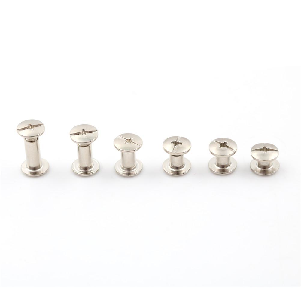 20PCS Sells Nickel Binding Chicago Screws Nail Rivets Album Craft 5x6mm Useful  6mm - 4