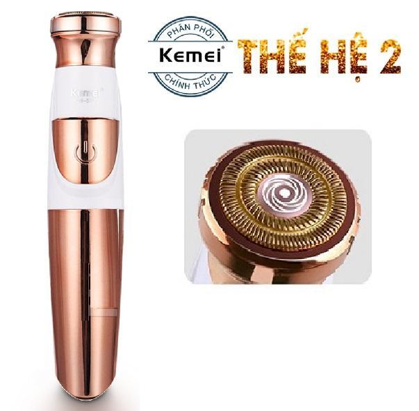 Hình ảnh Máy tẩy lông toàn thân không đau thế hệ mới Kemei KM-577 cạo lông mặt không gây kích ứng, tẩy lông nách, tay, chân, vùng bikini đa năng