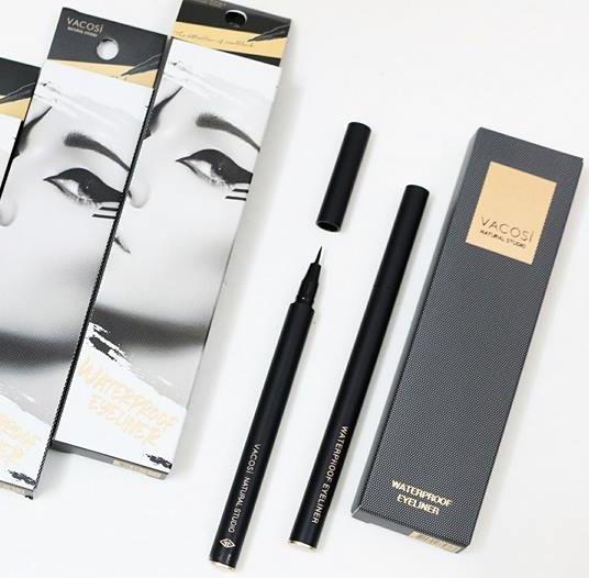 Bút kẻ mắt nước không trôi Vacosi Waterproof Pen Eyeliner 5ml (Đen) tốt nhất