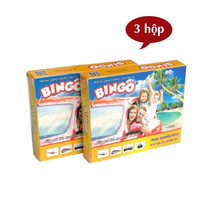 Set 3 hộp miếng dán chống say tàu xe Bingo (10 miếng/ hộp x 3 hộp)