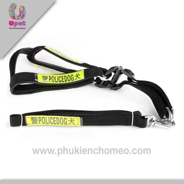HCM-SP322 - Dây dắt chó hình yên ngựa Police (size trung – từ 7-15kg) ( 4711876)-HP10737TC