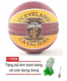 Bóng rổ Spalding NBA Team Cleveland Cavaliers Outdoor size7 + Tặng bộ kim bơm bóng và lưới đựng bóng thumbnail