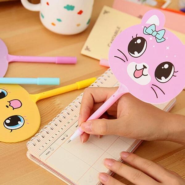 Mua Bút Bi Quạt Mèo Dễ Thương