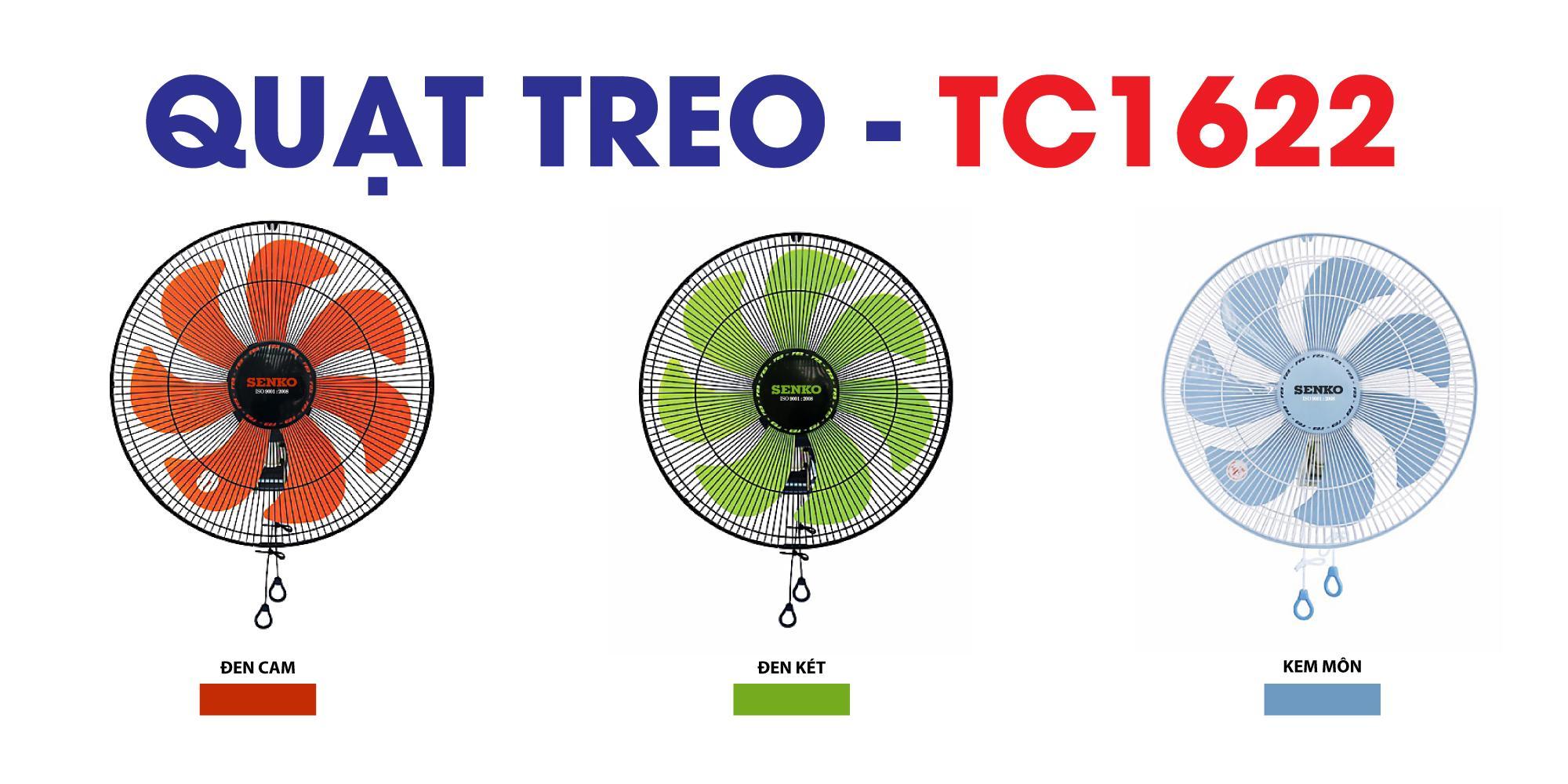 Quạt treo tường 2 dây Senko TC1622