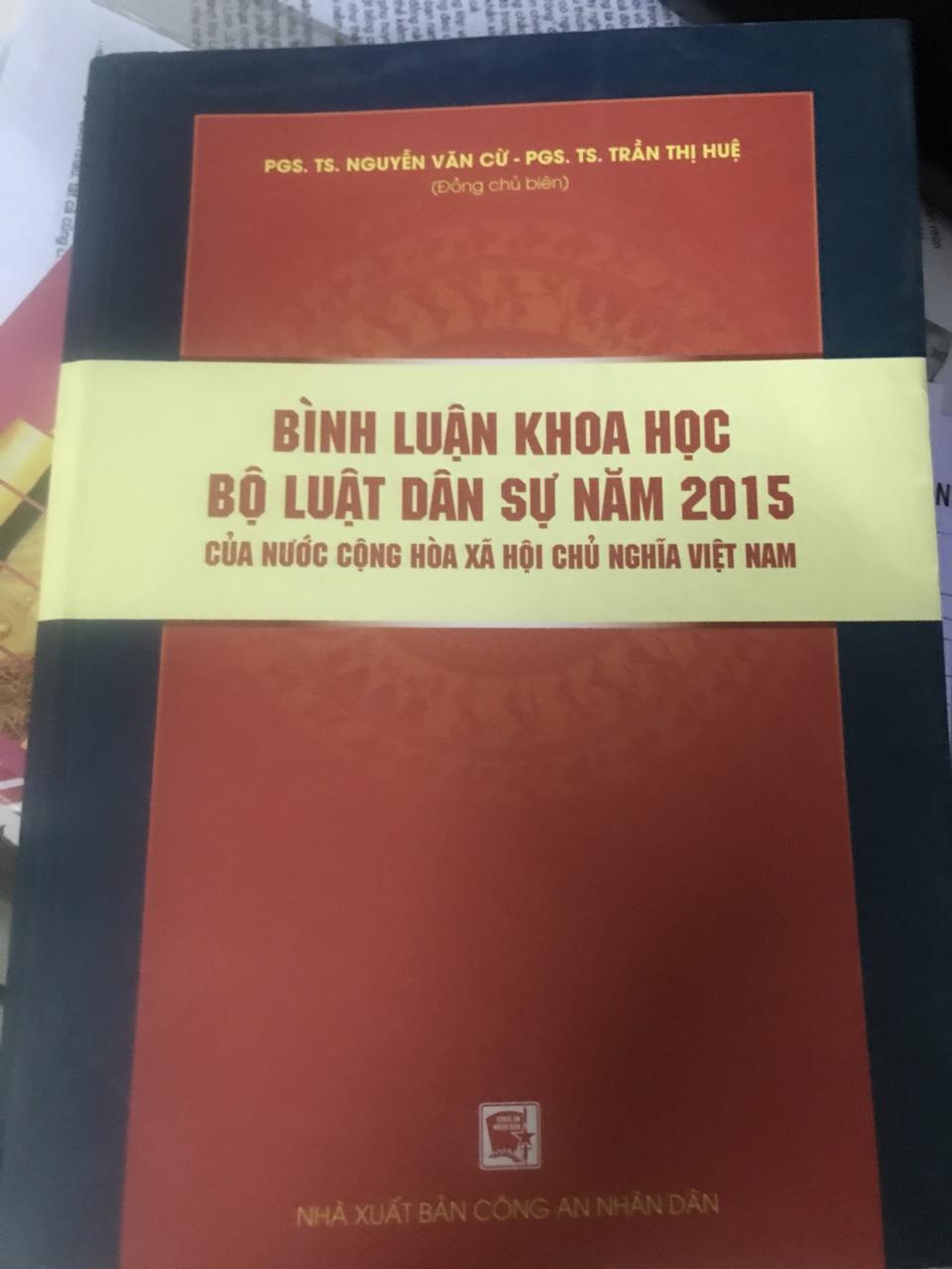 Mua sách Bình luận khoa học Bộ luật dân sự 2015