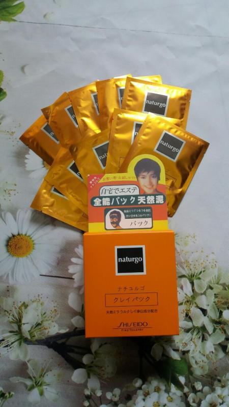 Hộp 10 gói mặt nạ bùn non lột mụn, trắng da Naturgo (Nhật)
