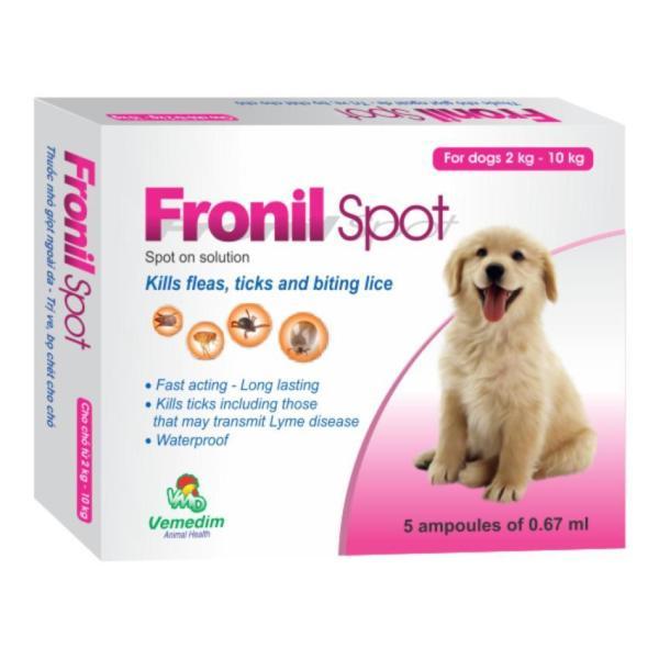 Nhỏ Gáy Phòng Diệt Ve Rận Bọ Chét Cho Chó Hộp 5 Ống Fronil Spot