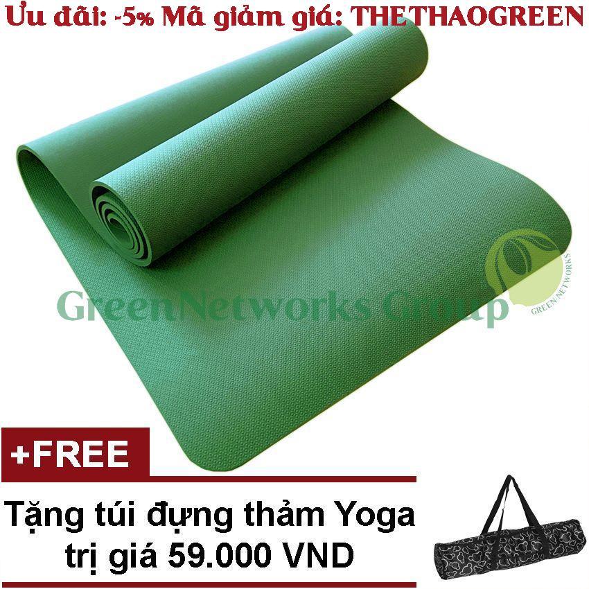 Thảm Tập Gym Yoga TPE Cao Cấp Zera GnG 6mm + Tặng Túi đựng Thảm Giảm Cực Sốc