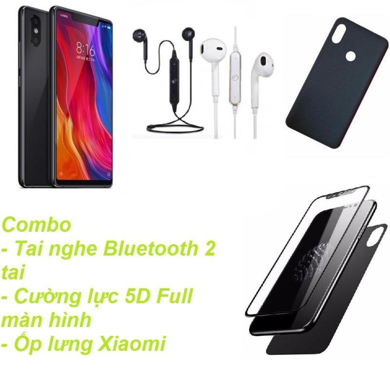 Xiaomi Mi 8SE 64GB Ram 4GB  (Đen) + Tai nghe Bluetooth 2 tai + Cường lực 5D Full màn hình + Ốp lưng - Hàng nhập khẩu