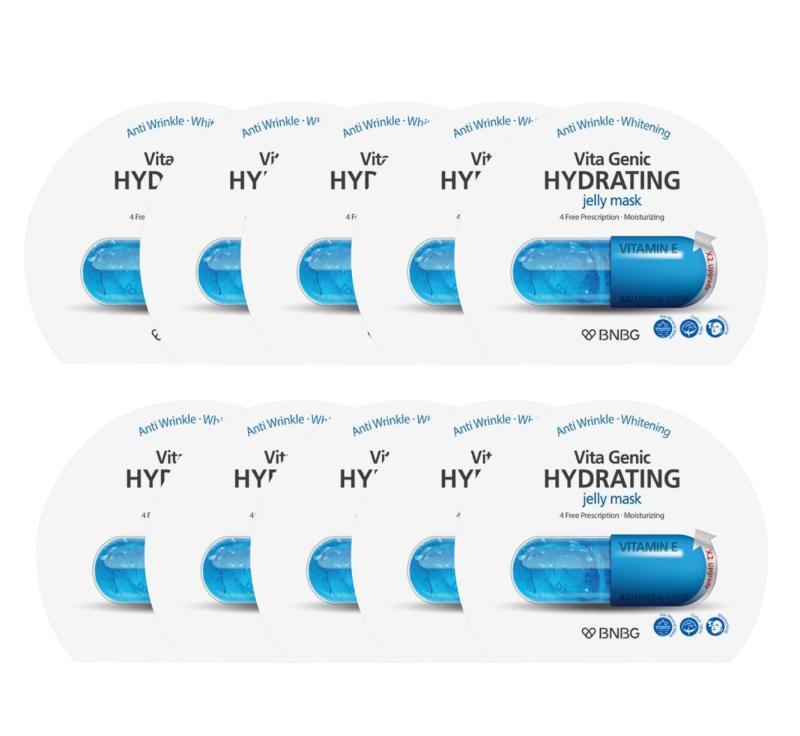 Hộp 10 gói Mặt nạ giấy cấp nước dưỡng ẩm da mềm mượt, căng bóng Banobagi Vita Genic Hydrating Jelly Mask (Vitamin E) 30ml x10