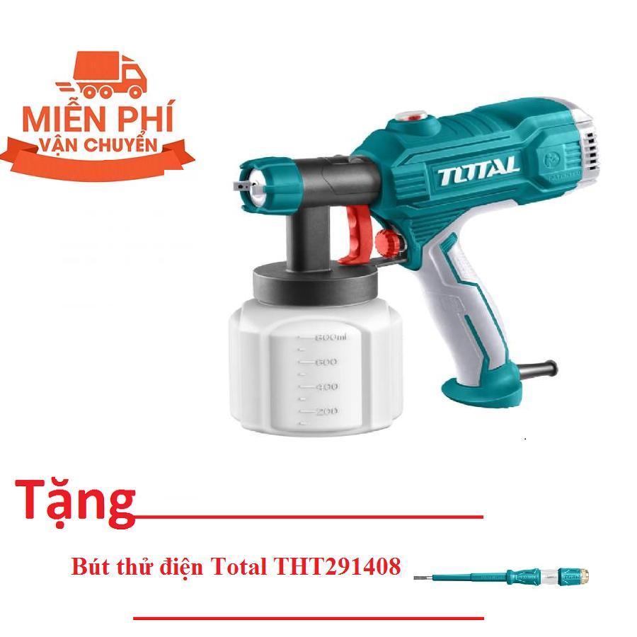 350W MÁY PHUN SƠN DÙNG ĐIỆN TOTAL TT3506 (Tặng bút thử điện Total THT291408)