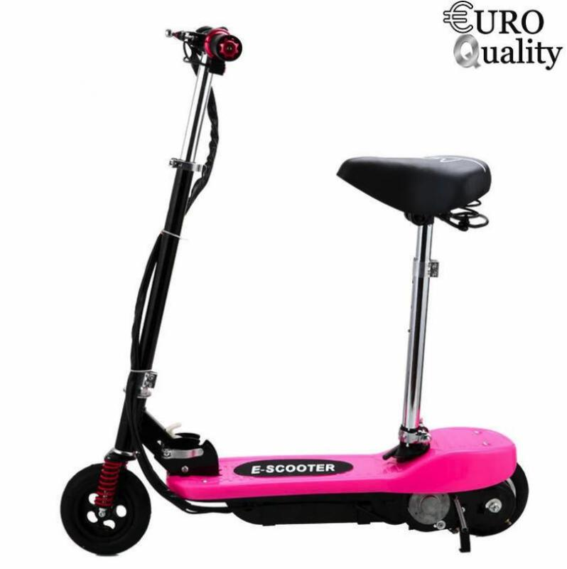 Mua Xe scooter điện E-Scooter 15km/h, tải trọng 80kg, 120w thiết kế chắc chắn (Pink)