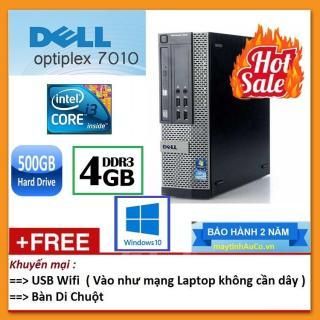 Thùng Dell optiplex 7010 ( Core i3 2100 8G 500G ), Tặng USB Wifi , Bàn di chuột - Bảo hành 24 tháng - Hàng Nhập Khẩu thumbnail