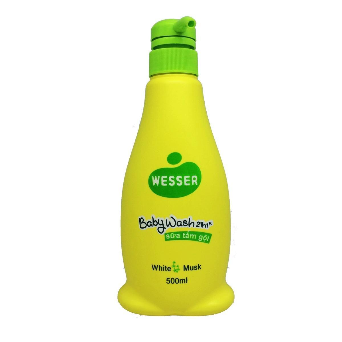 Sữa Tắm Gội Wesser 2in1 Hương Cỏ Xạ Hương 500ml ( Màu Xanh Lá) By Asia Mart (tp.hcm).