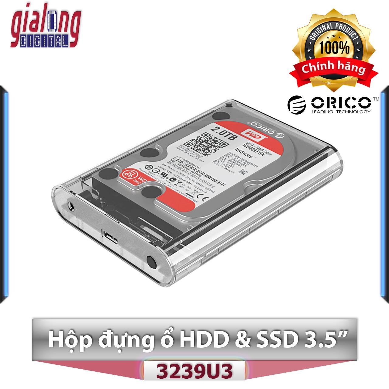 """""""Hộp ổ cứng 3.5"""""""" SSD/HDD SATA 3 USB 3.0 - Orico 3139U3 - Hàng chính hãng phân phối"""""""