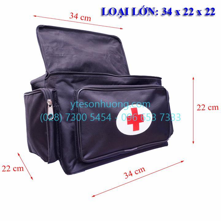 Túi cứu thương Đen Lớn 34cm x 22cm x 22cm nhập khẩu