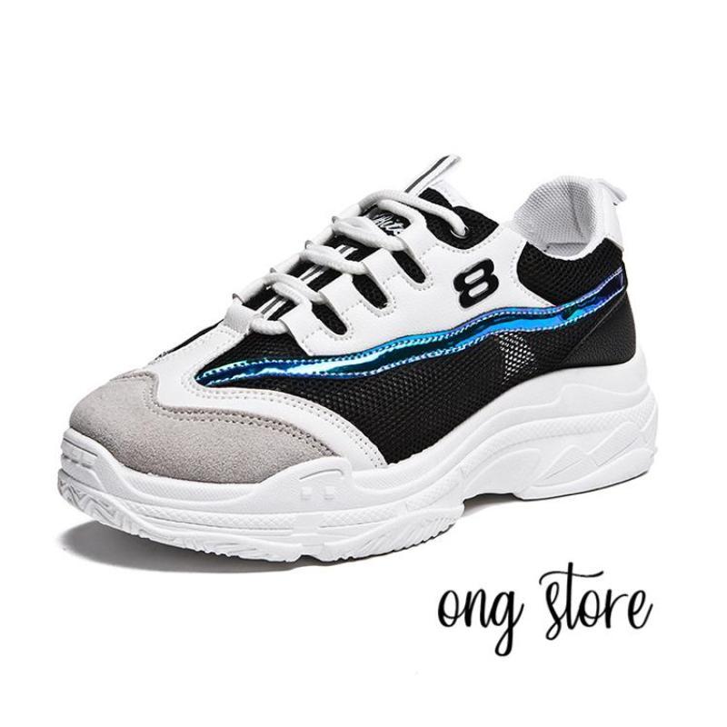 Giày thể thao nữ số 8 (đen trắng)