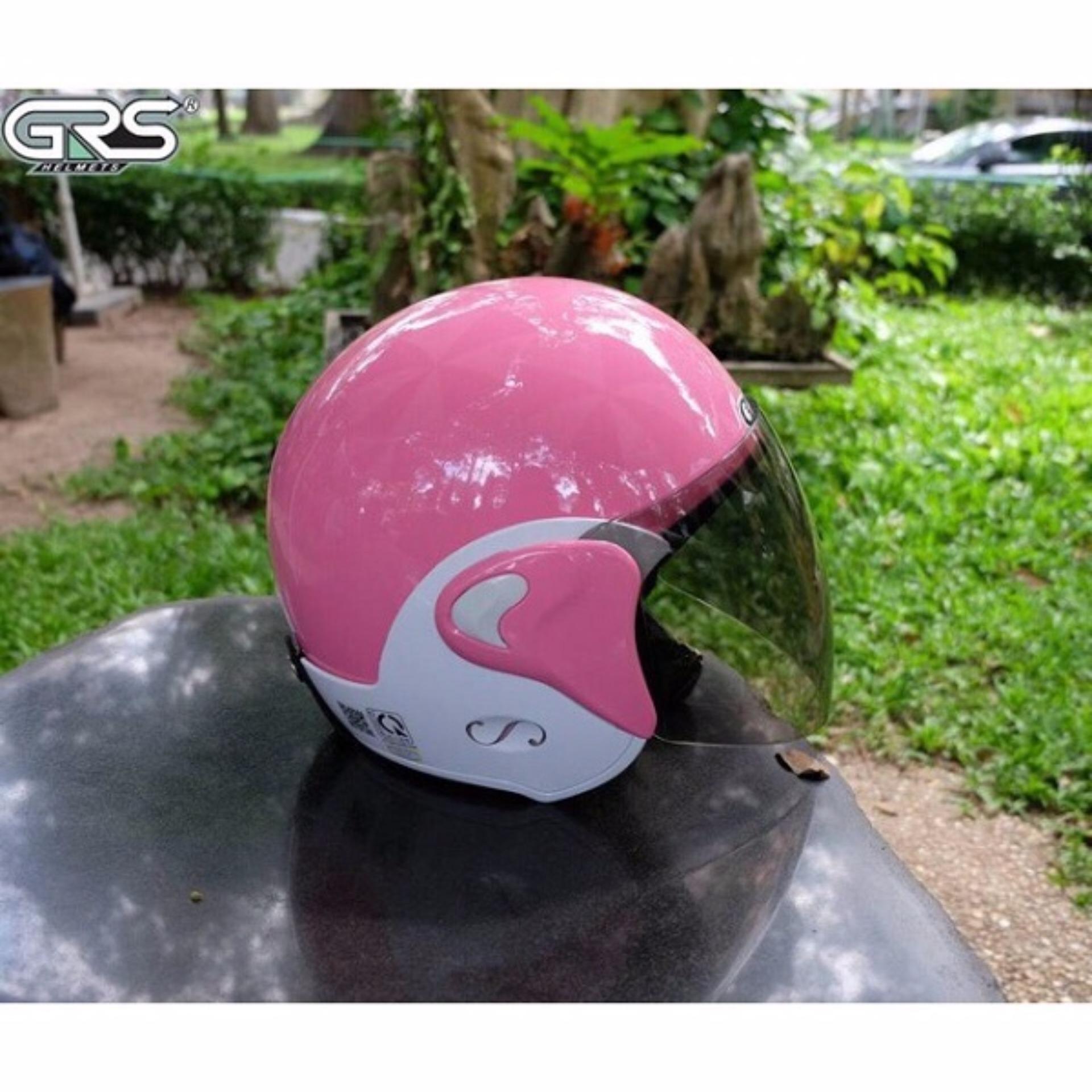 Mũ bảo hiểm GRS A318K (hồng nhạt)