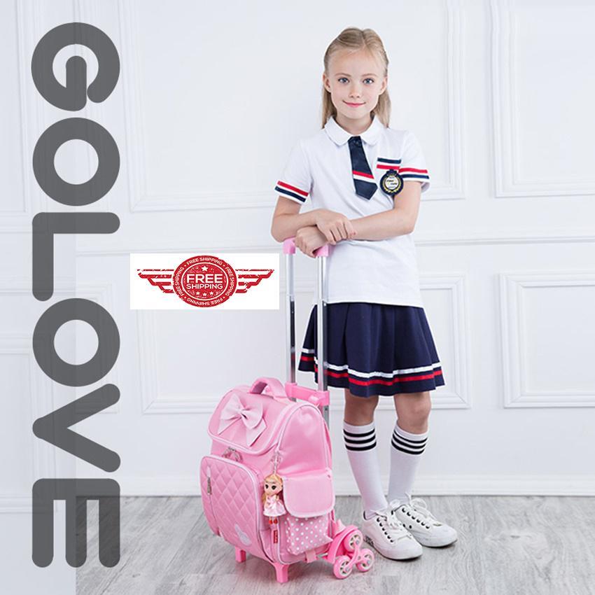 Giá bán ba lô siêu nhẹ xuất nhật.ms 142.sở hữu ngay Balo chống gù lưng học sinh Golove kèm búp bê xinh xắn (Pink)- giảm giá đến 50% ngay hôm nay