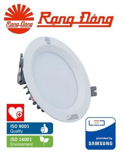 Đèn LED âm trần Rạng Đông 12W Փ110, Vỏ NHÔM ĐÚC, siêu tản nhiệt, SAMSUNG chipLED