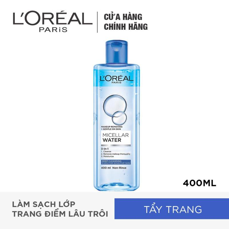 Nước tẩy trang đa năng 3-in-1 LOreal Paris Micellar làm sạch sâu 400ml nhập khẩu