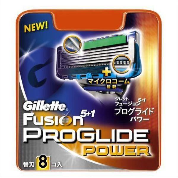 Vỉ 8 Lưỡi Dao Cạo Râu Gillette Fusion ProGlide Power 5+1 (Xanh Power)