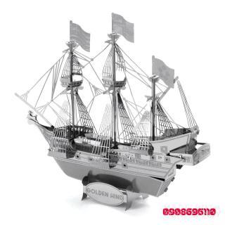 MÔ HÌNH 3D KIM LOẠI thuyền Golden Hind đồ chơi lắp ráp thumbnail